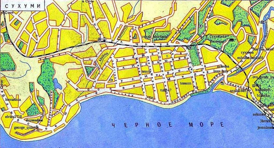карта сухума с улицами и номерами домов на русском языке скачать - фото 4